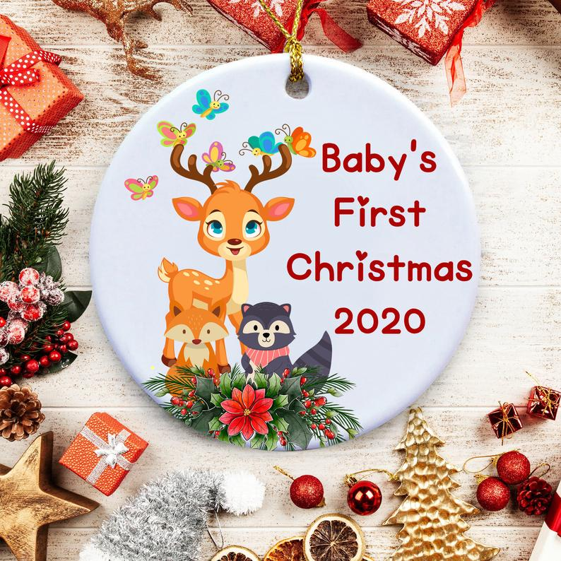 2020 Christmas Ornament Baby's First Covid Xmas Personalized Gifts