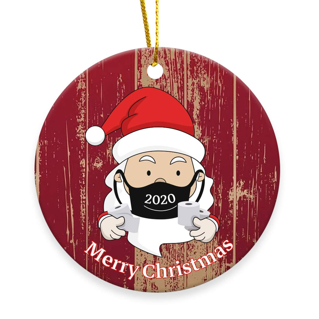 2020 Christmas Ornament Merry Christmas Masked Santa Claus Toilet Paper Personalized Gifts