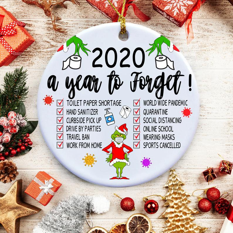 2020 Christmas Ornaments A Year To Forget Quarantine Covid Ornament Personalized Gifts