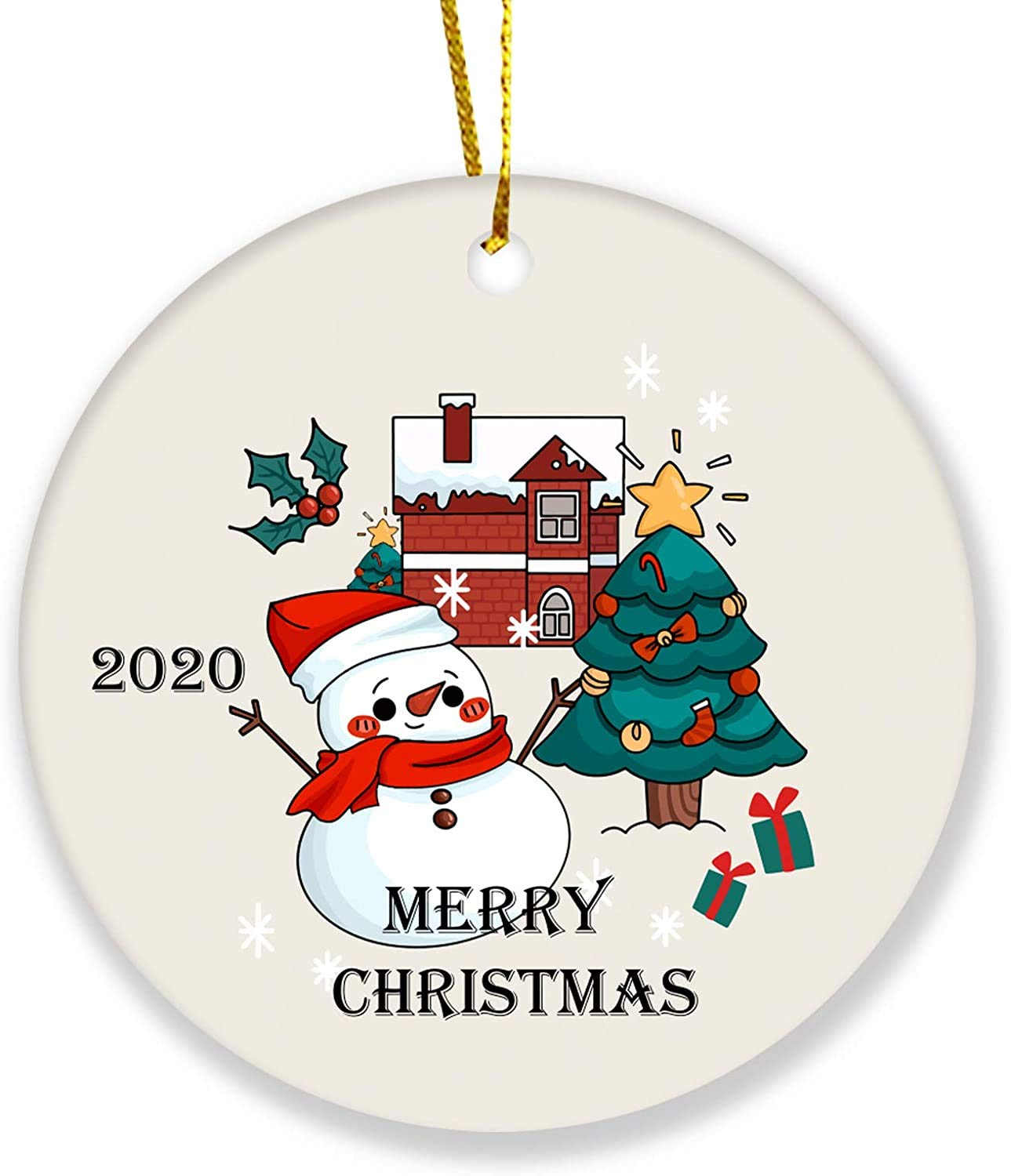 2020 Christmas Tree Ornament Merry Christmas Snowman Personalized Gifts