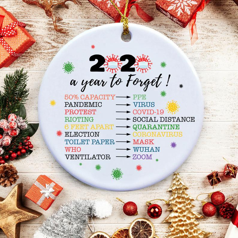 2020 Ornaments Toilet Paper Christmas Decorations A Year To Forget Quarantine Memories Personalized Gifts