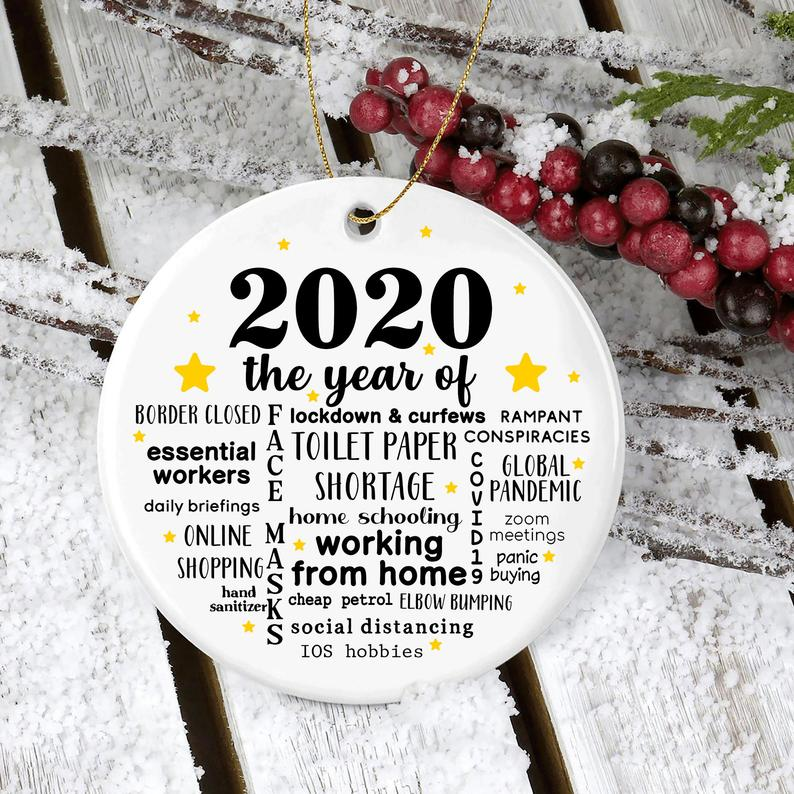 2020 The Year Of Ornament Quarantine Christmas No18 Personalized Gifts