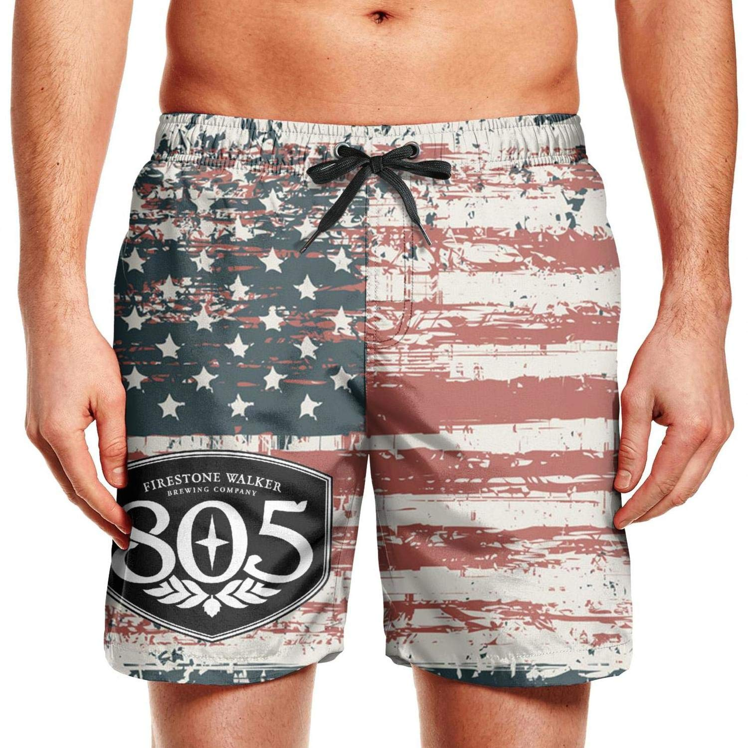 805 Beer Sign Patriotic American Usa Flag July 4th Shorts