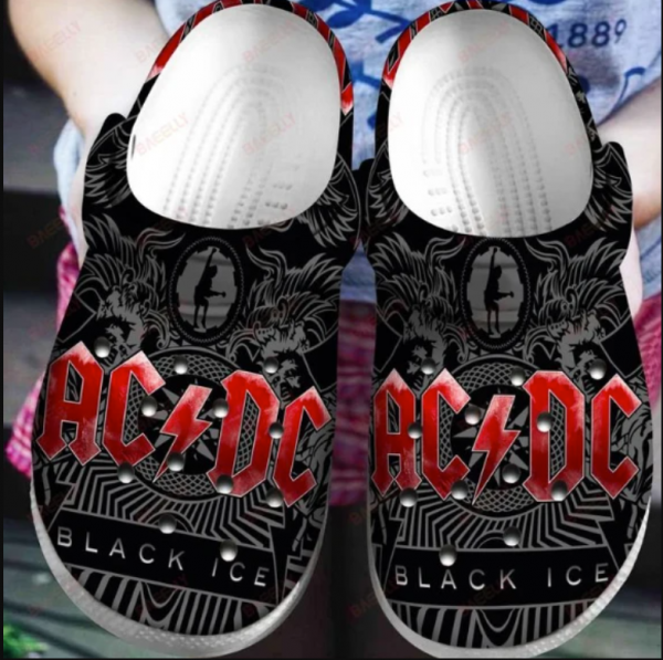 Ac-dc Crocs Clog Shoes