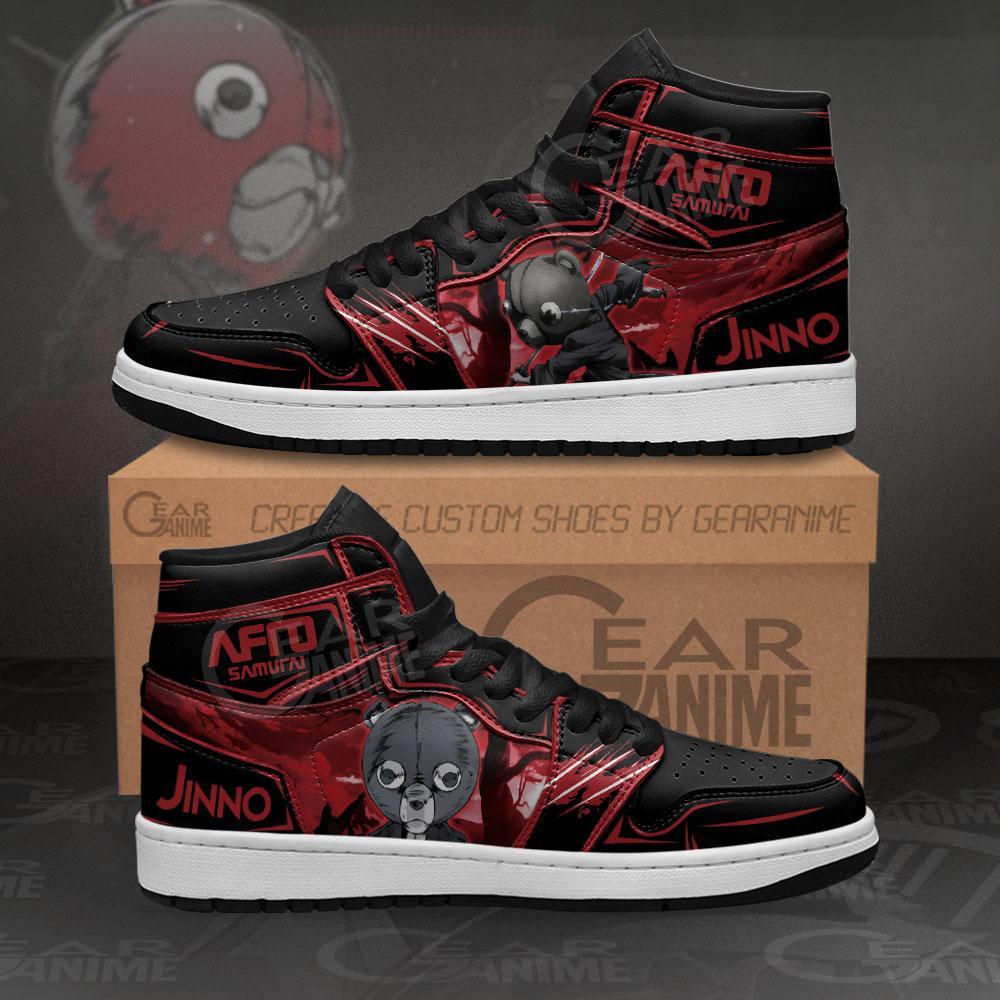 Afro Samurai Jinno Sneakers Custom Anime Air Jordan Shoes