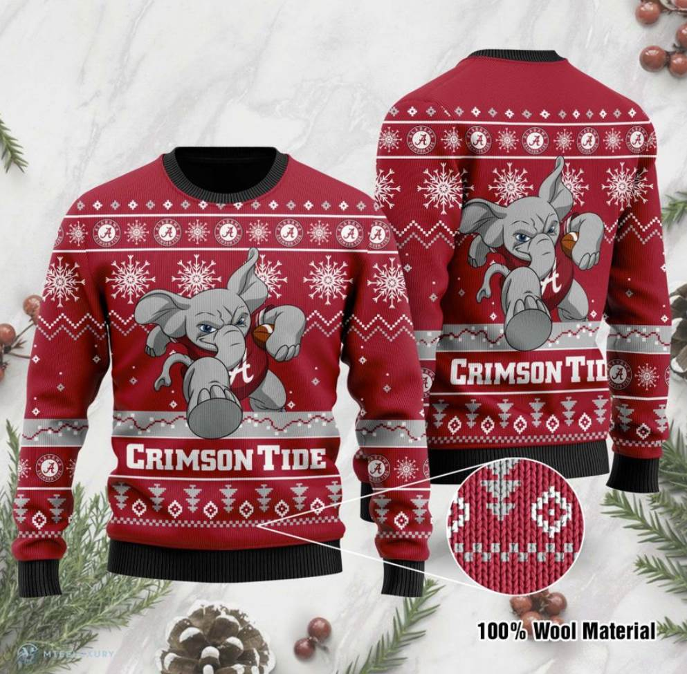 Alabama Crimson Tide Football Ugly Sweater