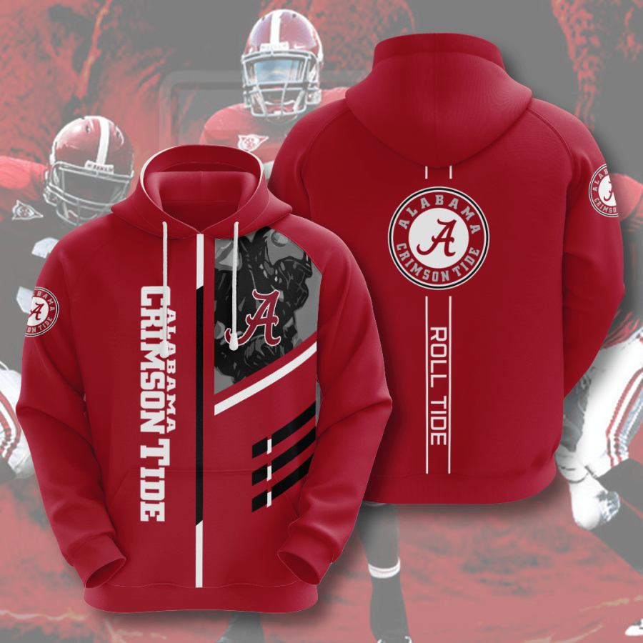 Alabama Crimson Tide No30 Custom Hoodie 3D