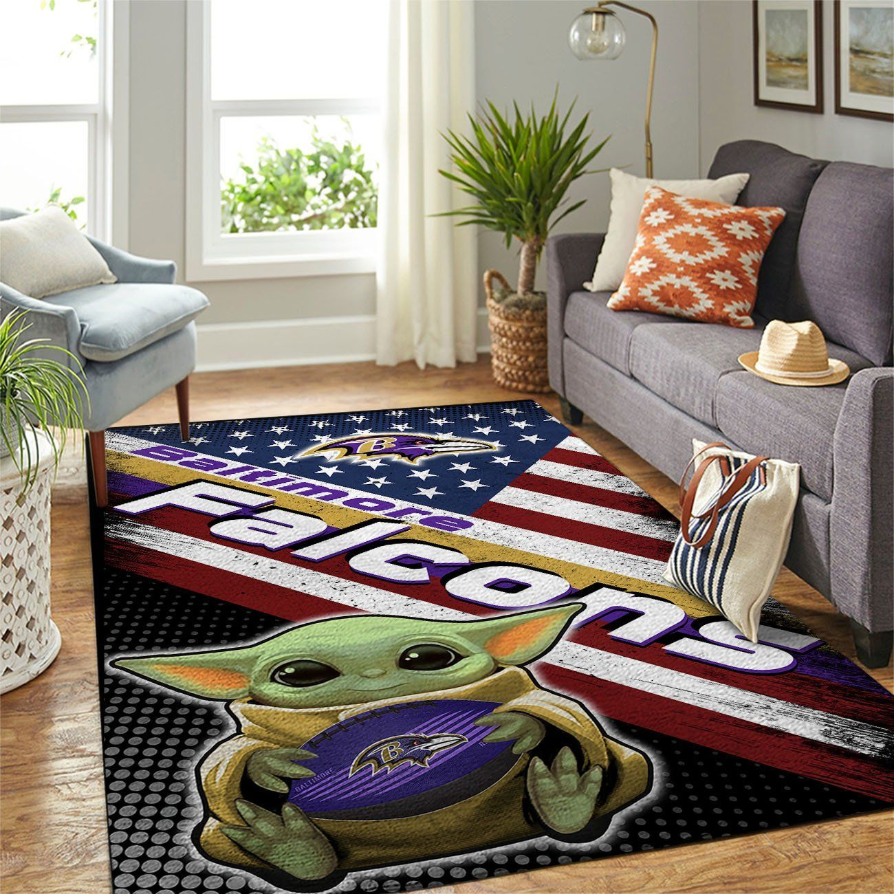 Amazon Baltimore Ravens Living Room Area No2152 Rug