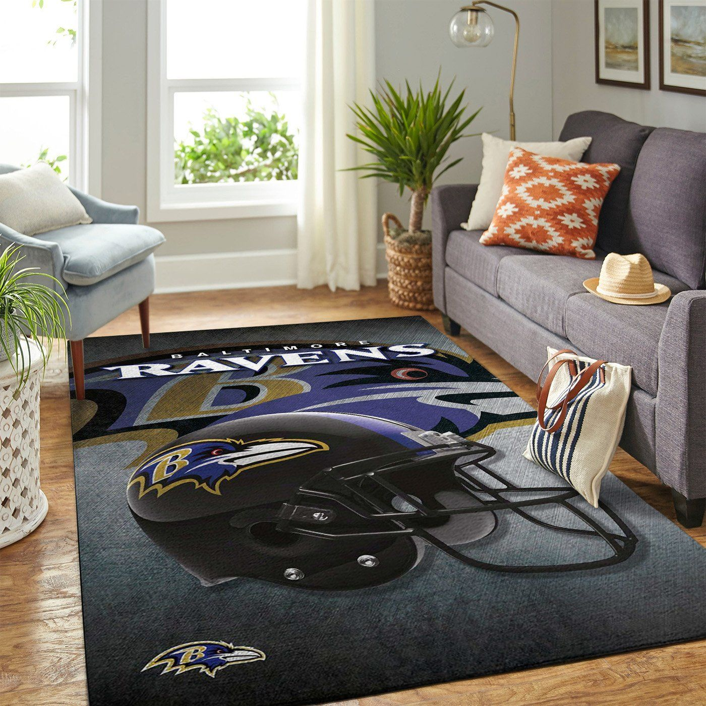 Amazon Baltimore Ravens Living Room Area No2158 Rug