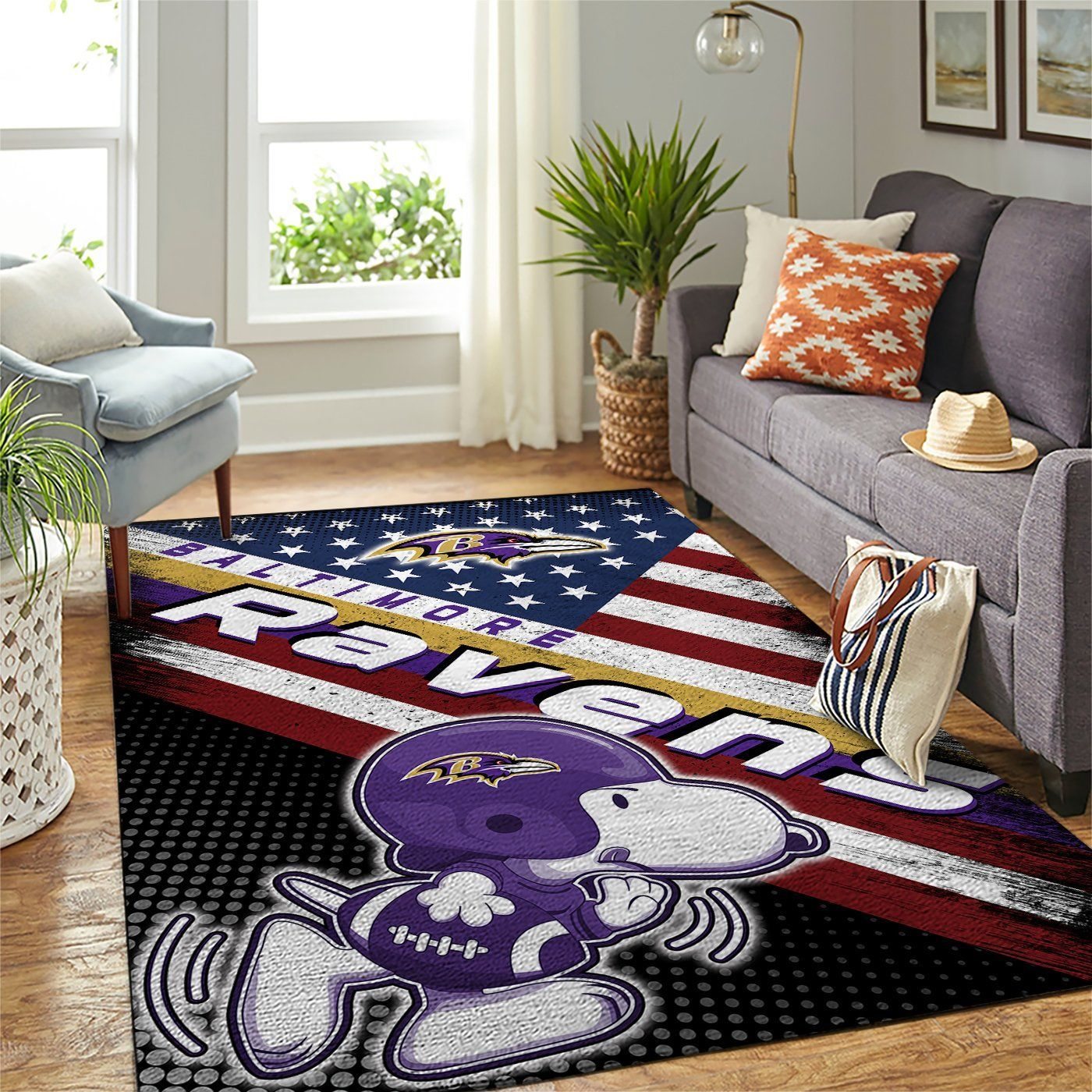Amazon Baltimore Ravens Living Room Area No2163 Rug