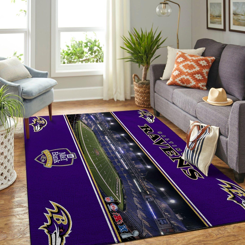 Amazon Baltimore Ravens Living Room Area No2172 Rug