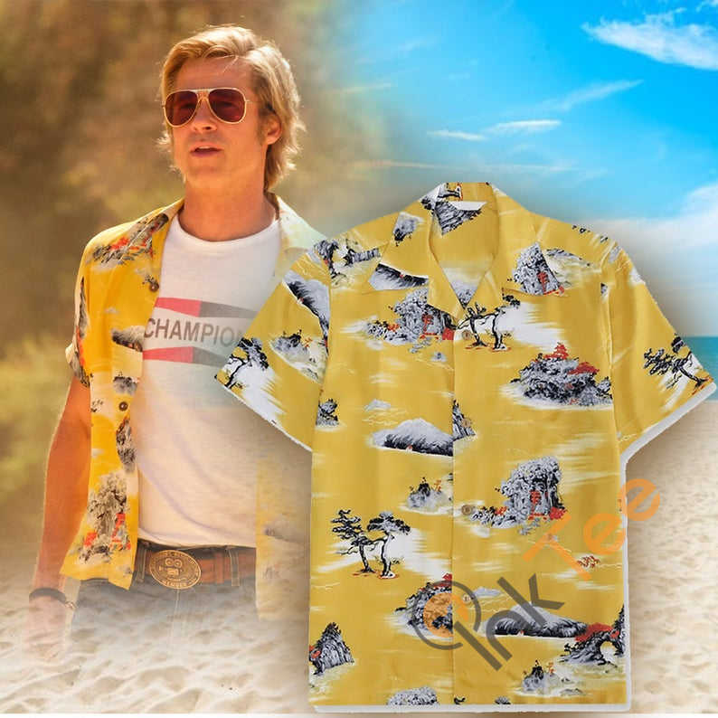 Amazon Best Selling Brad Pitt's Cliff Booth Once Upon A Time In Hollywood Hawaiian shirts