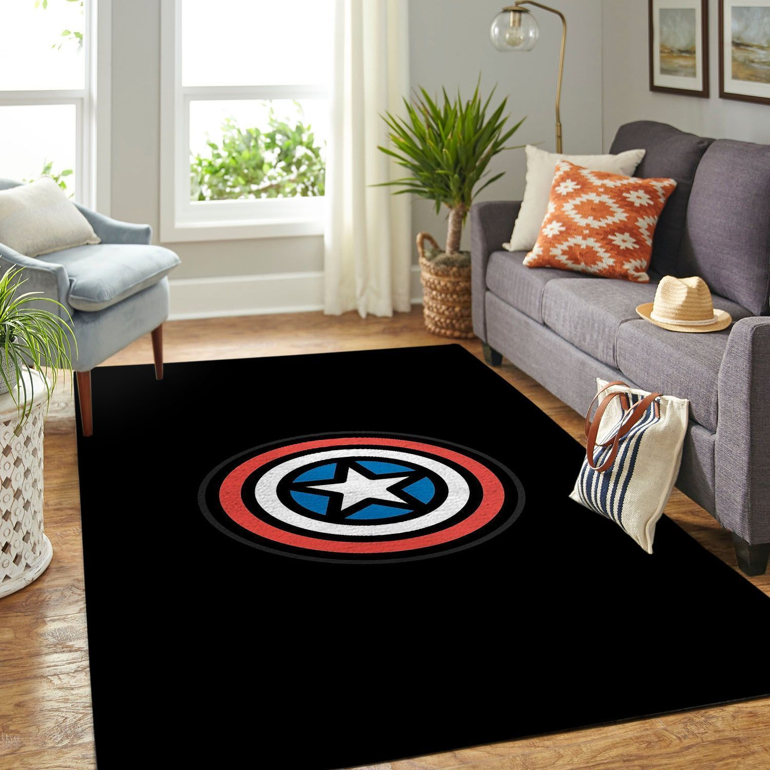 Amazon Captain America Living Room Area No5782 Rug