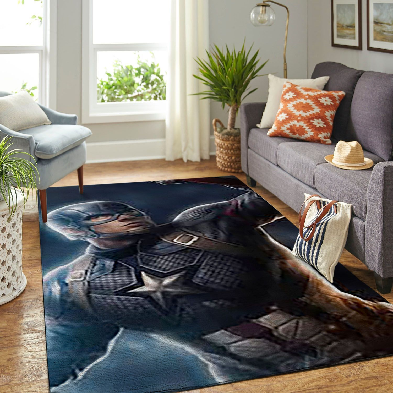 Amazon Captain America Living Room Area No5784 Rug