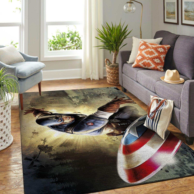Amazon Captain America Living Room Area No6771 Rug