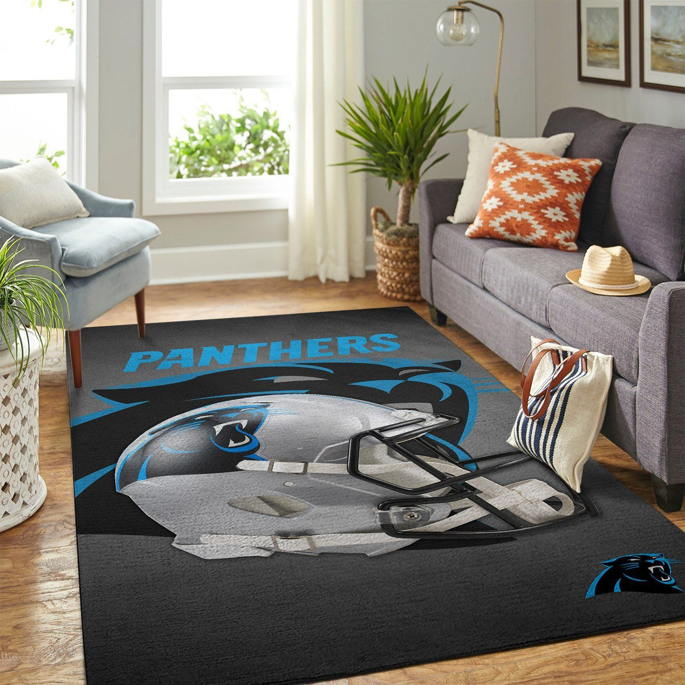 Amazon Carolina Panthers Living Room Area No2373 Rug