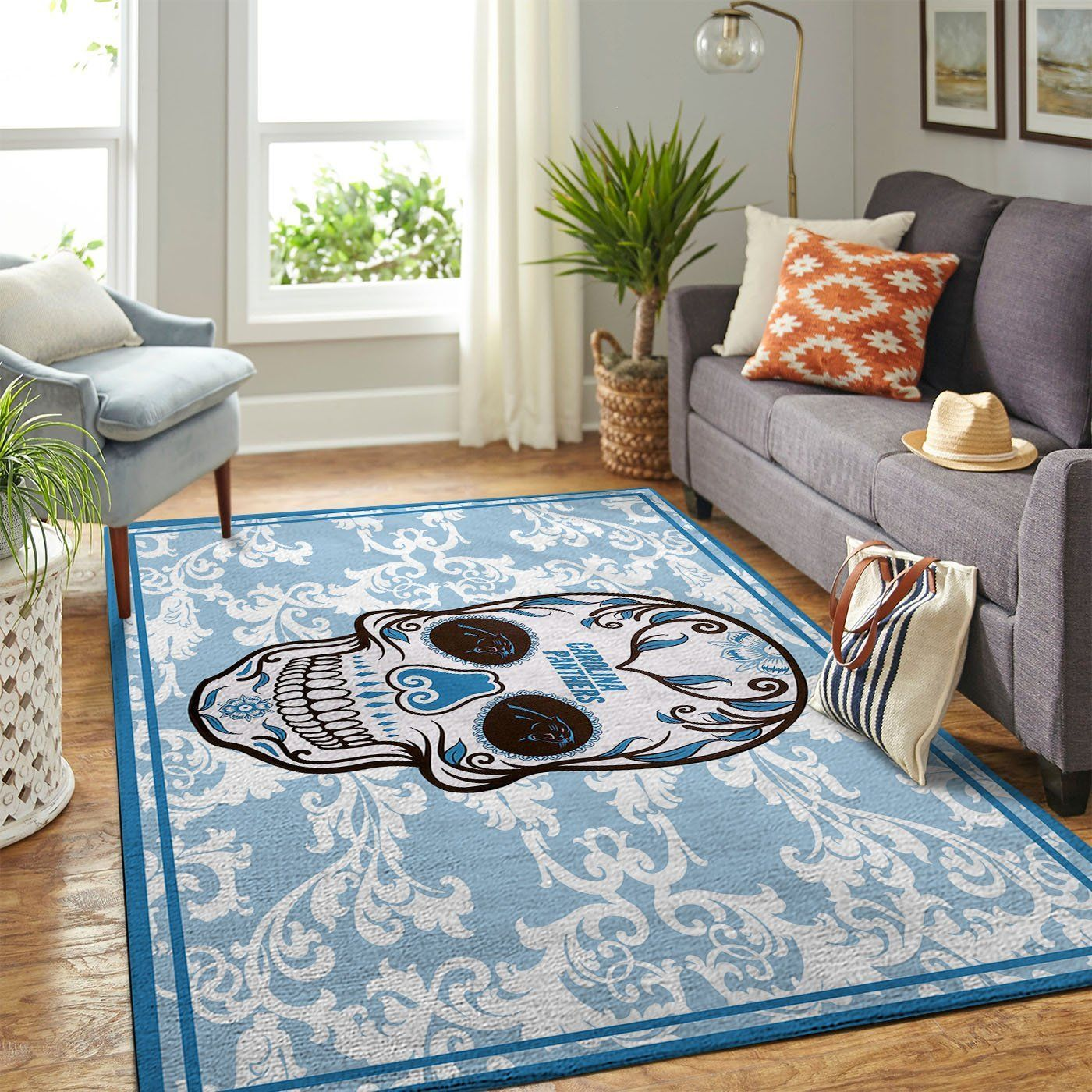 Amazon Carolina Panthers Living Room Area No2378 Rug