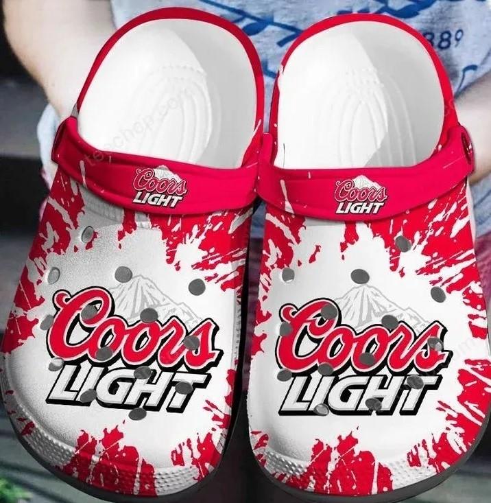 Amazon Coors Light Beer Crocs Clog Shoes