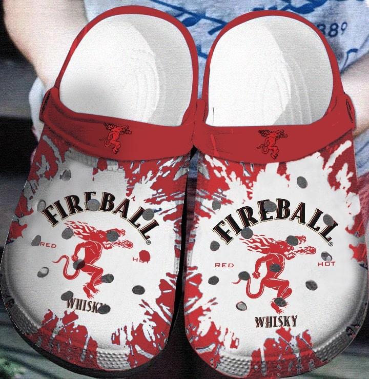 Amazon Fireball Cinnamon Whisky Crocs Clog Shoes