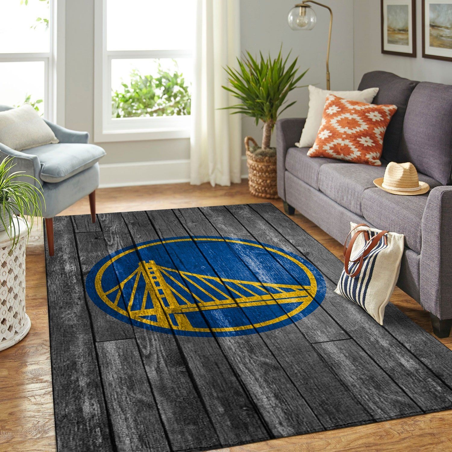 Amazon Golden State Warriors Living Room Area No3089 Rug