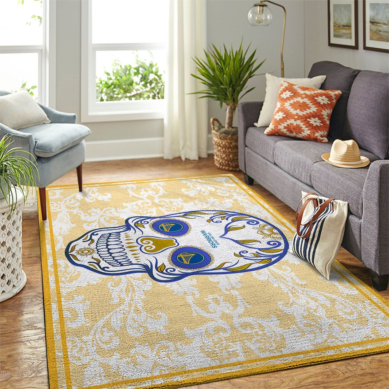 Amazon Golden State Warriors Living Room Area No3092 Rug