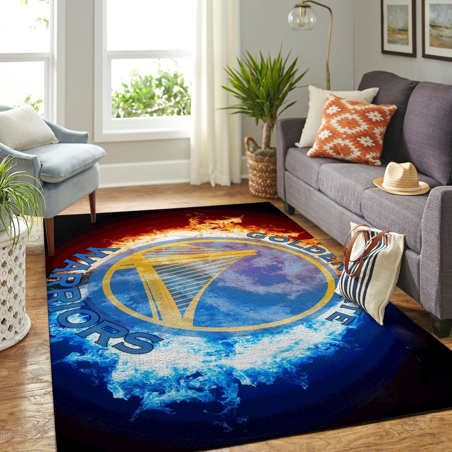 Amazon Golden State Warriors Living Room Area No3106 Rug