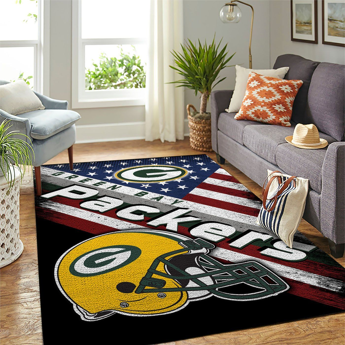 Amazon Green Bay Packers Living Room Area No3109 Rug