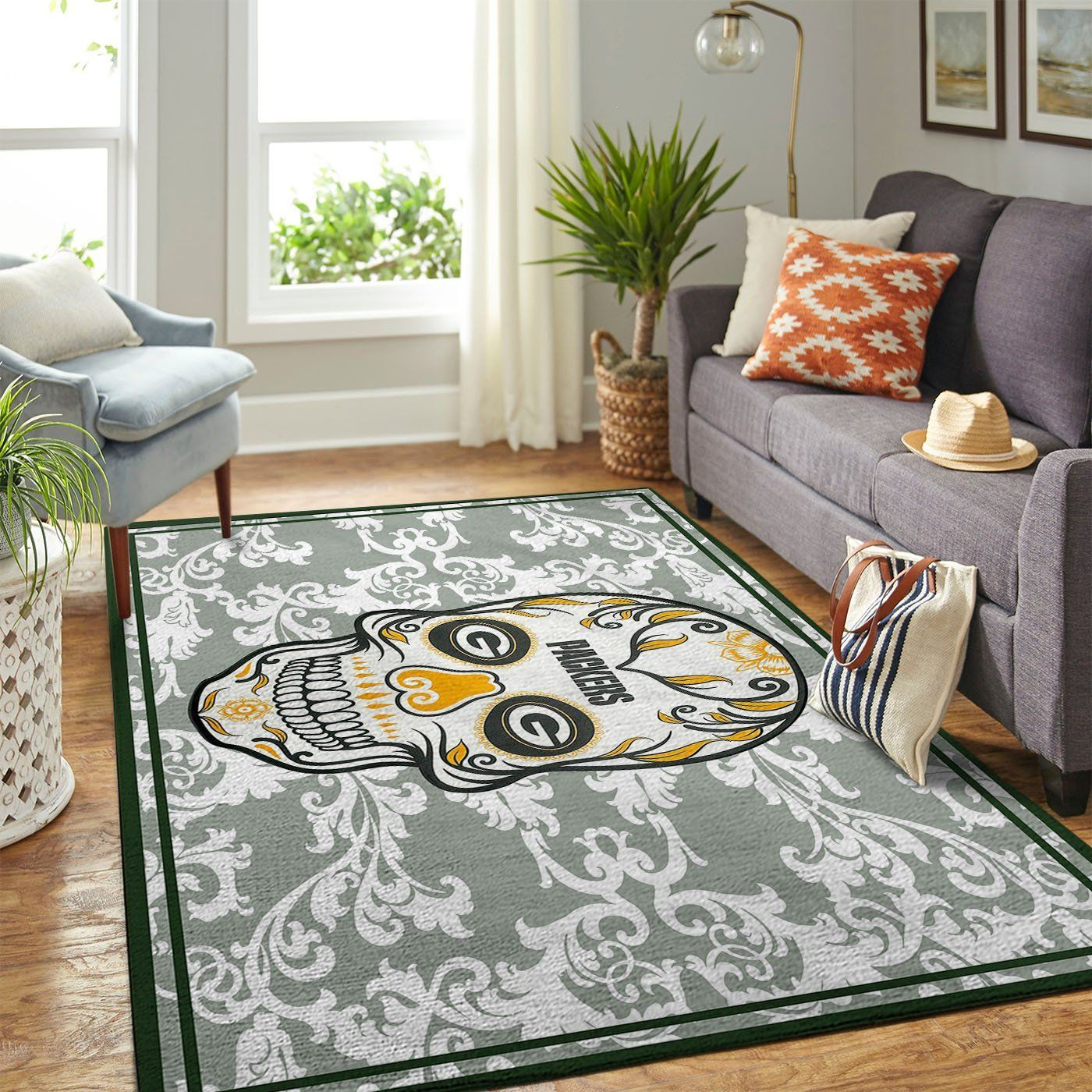 Amazon Green Bay Packers Living Room Area No3120 Rug