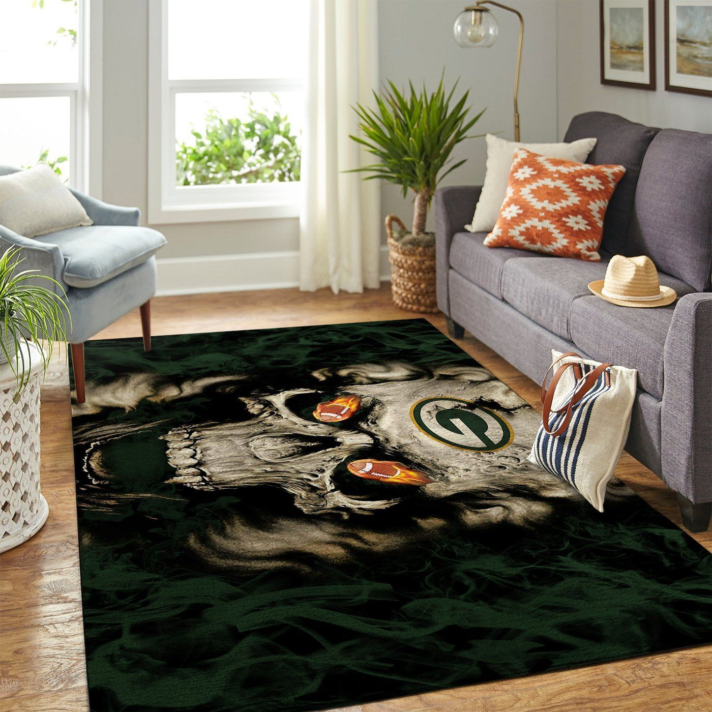 Amazon Green Bay Packers Living Room Area No3122 Rug