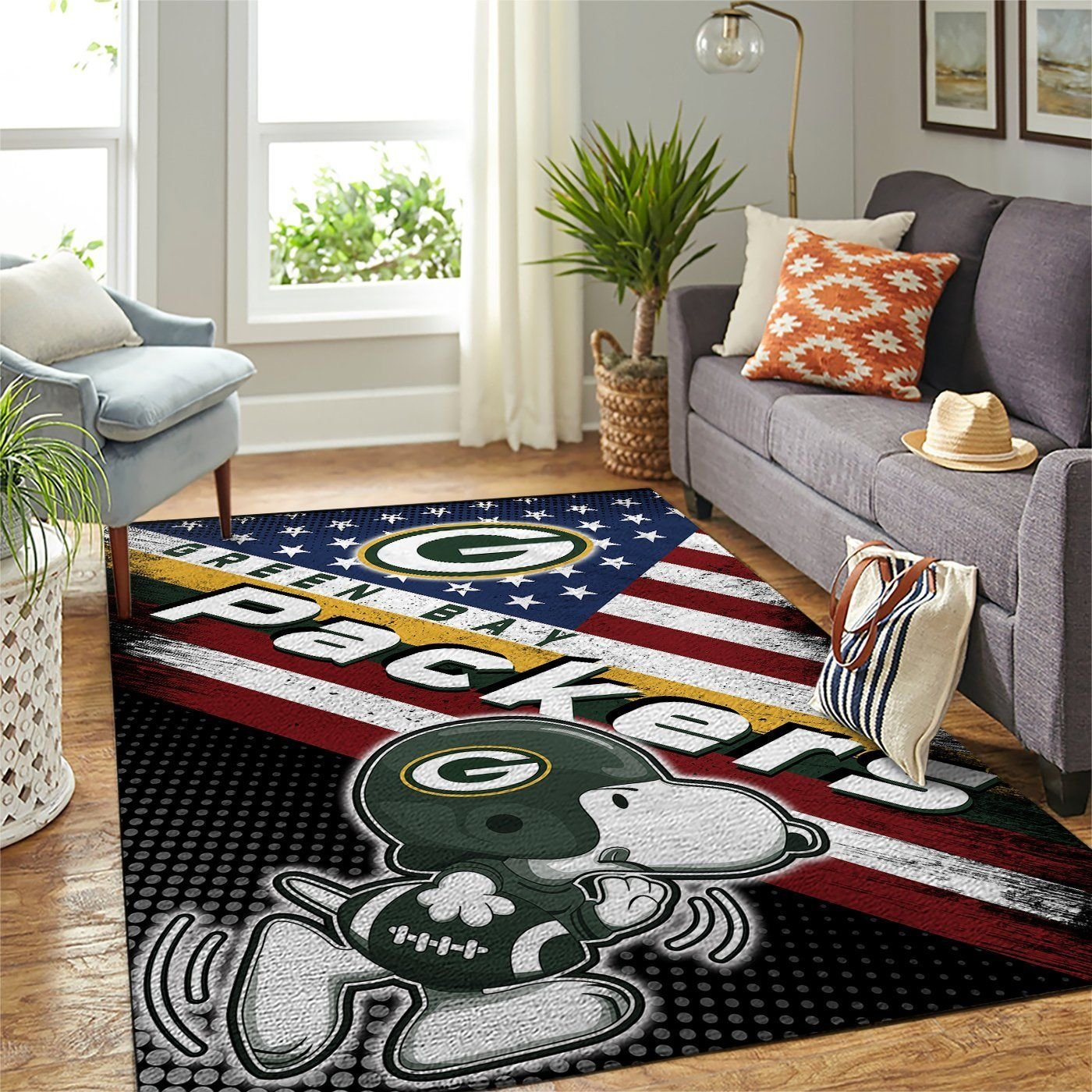 Amazon Green Bay Packers Living Room Area No3123 Rug