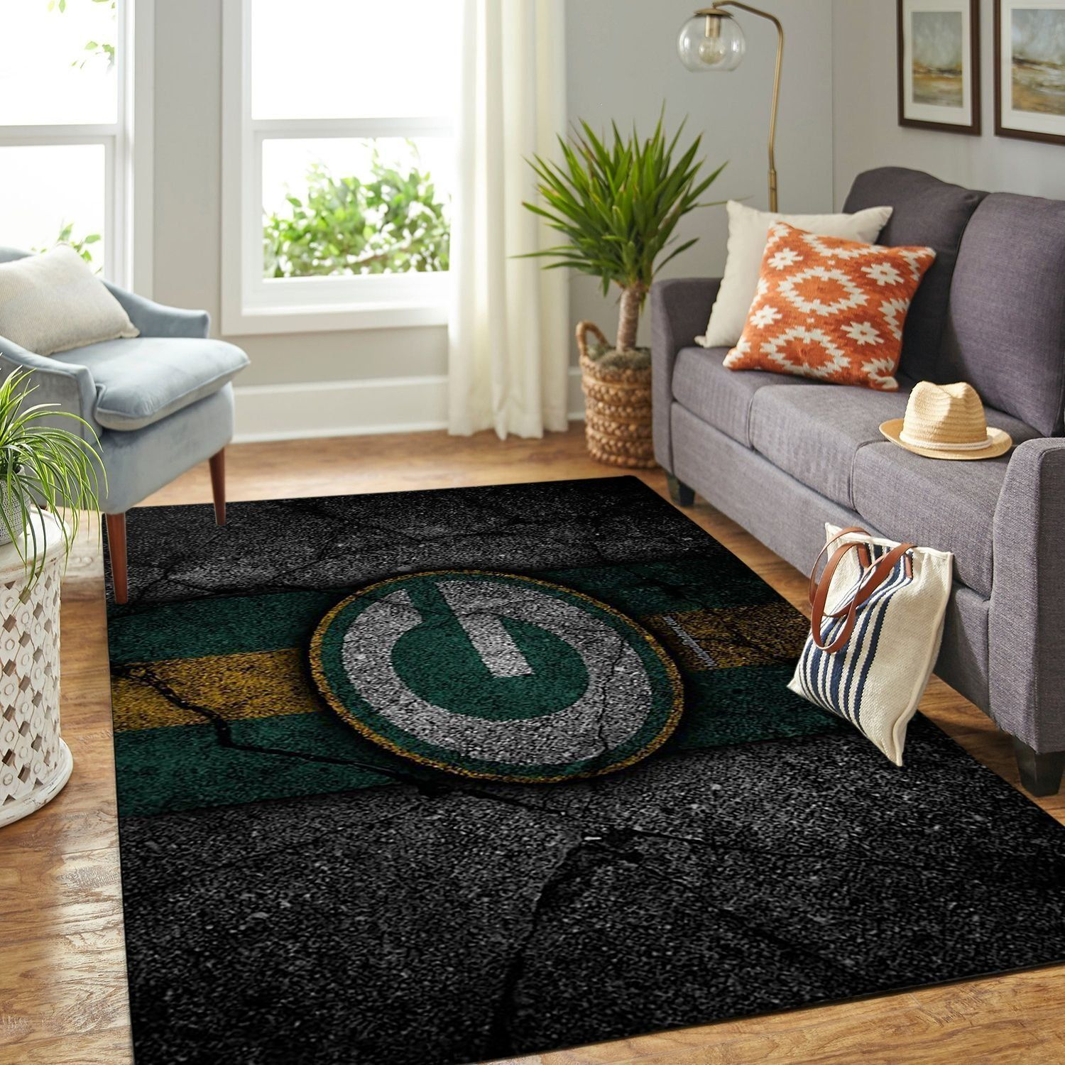 Amazon Green Bay Packers Living Room Area No3140 Rug