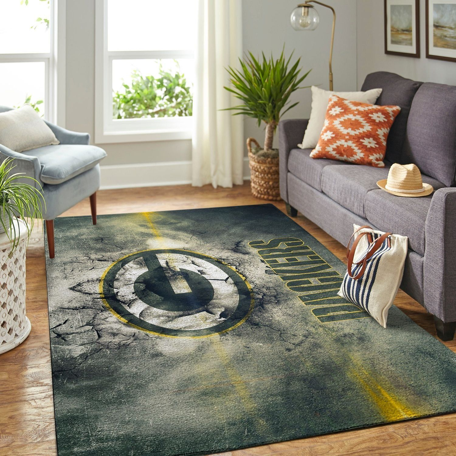 Amazon Green Bay Packers Living Room Area No3141 Rug