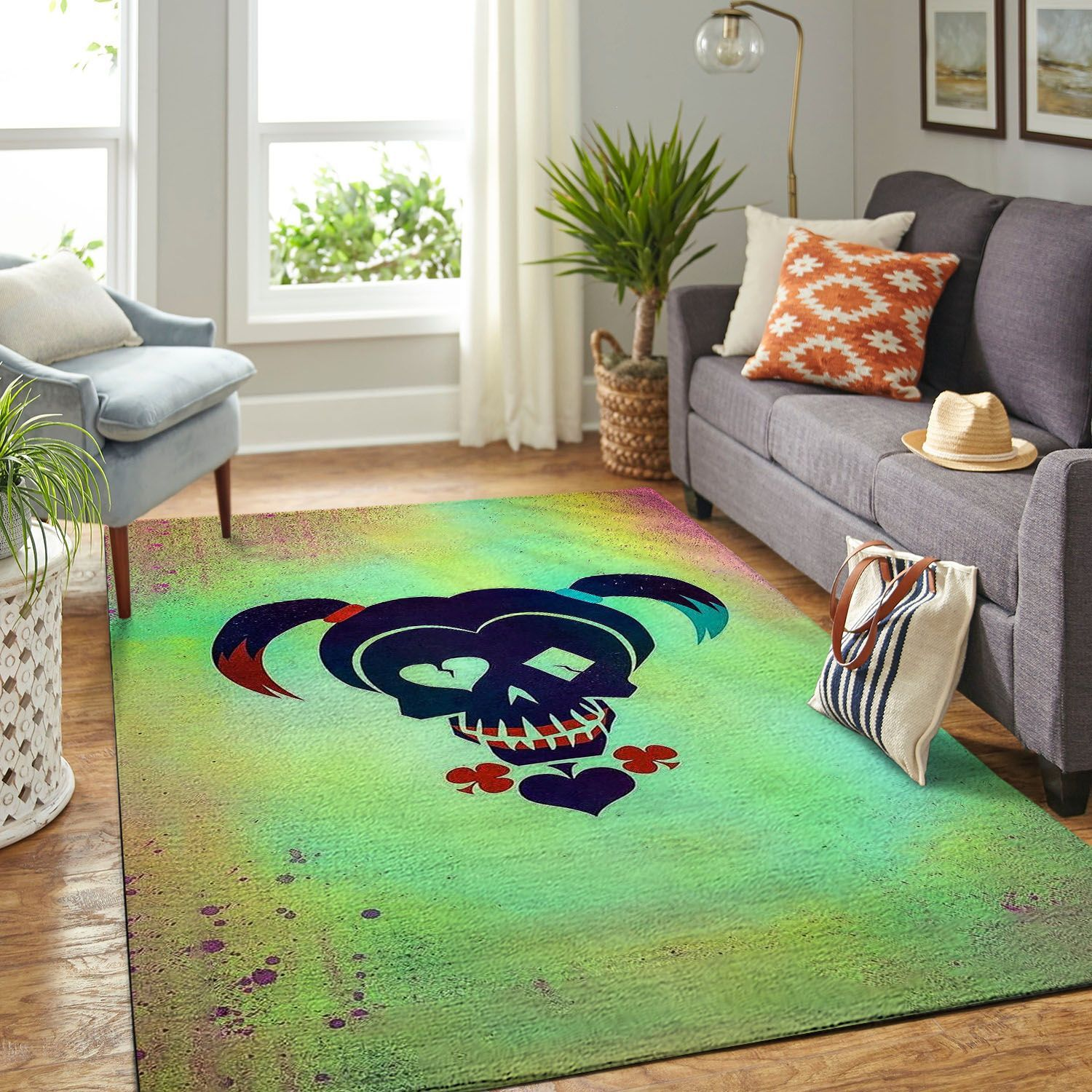 Amazon Harley Quinn Living Room Area No6232 Rug