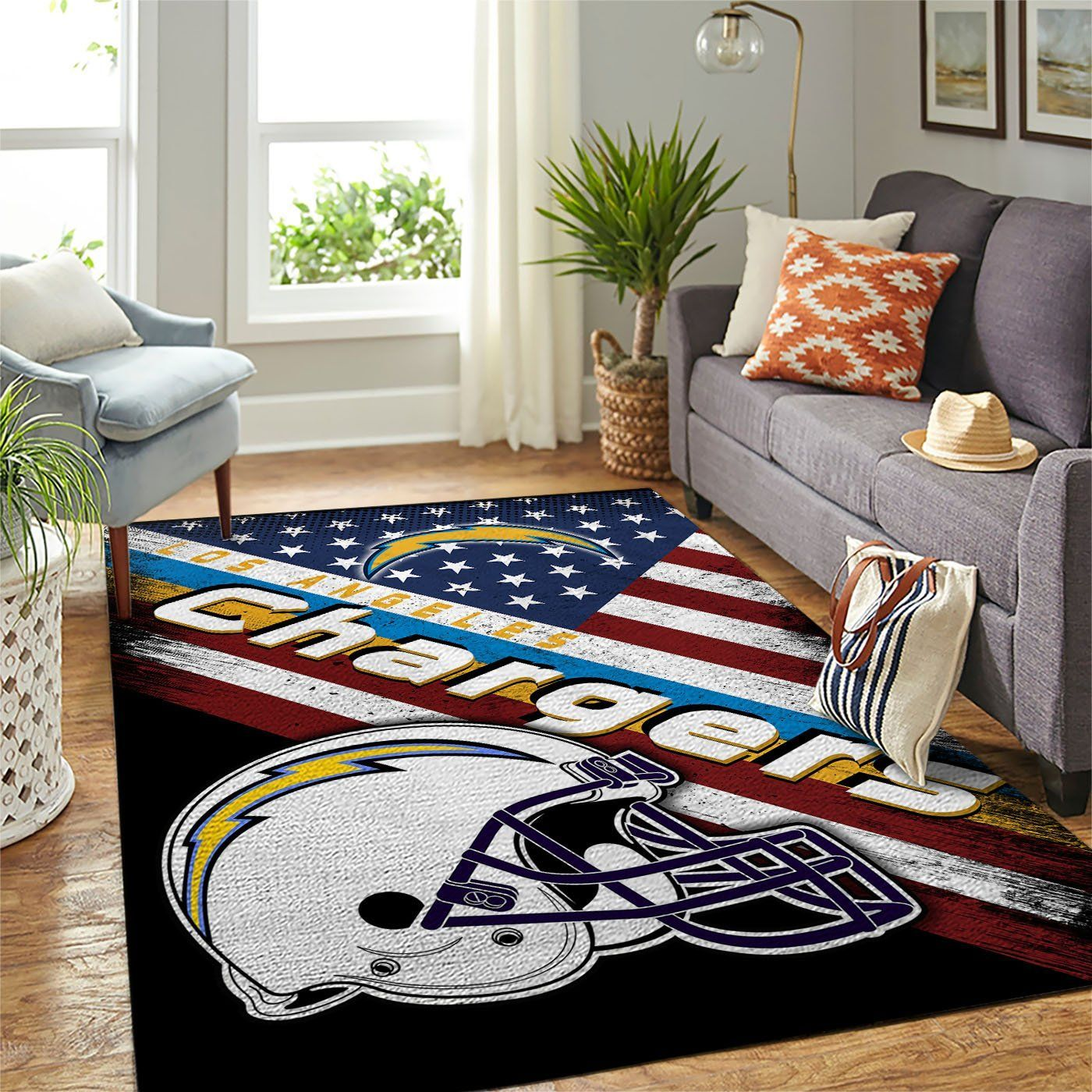 Amazon Los Angeles Chargers Living Room Area No3504 Rug
