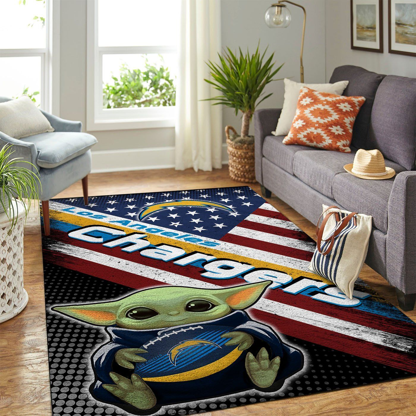 Amazon Los Angeles Chargers Living Room Area No3505 Rug