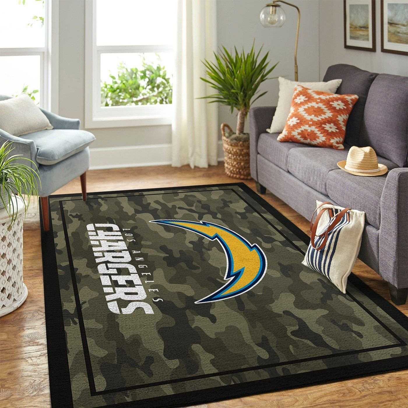 Amazon Los Angeles Chargers Living Room Area No3506 Rug