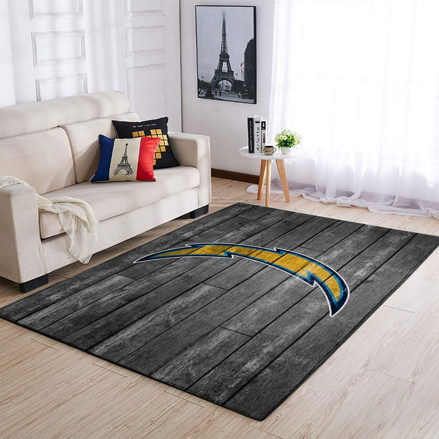 Amazon Los Angeles Chargers Living Room Area No3507 Rug