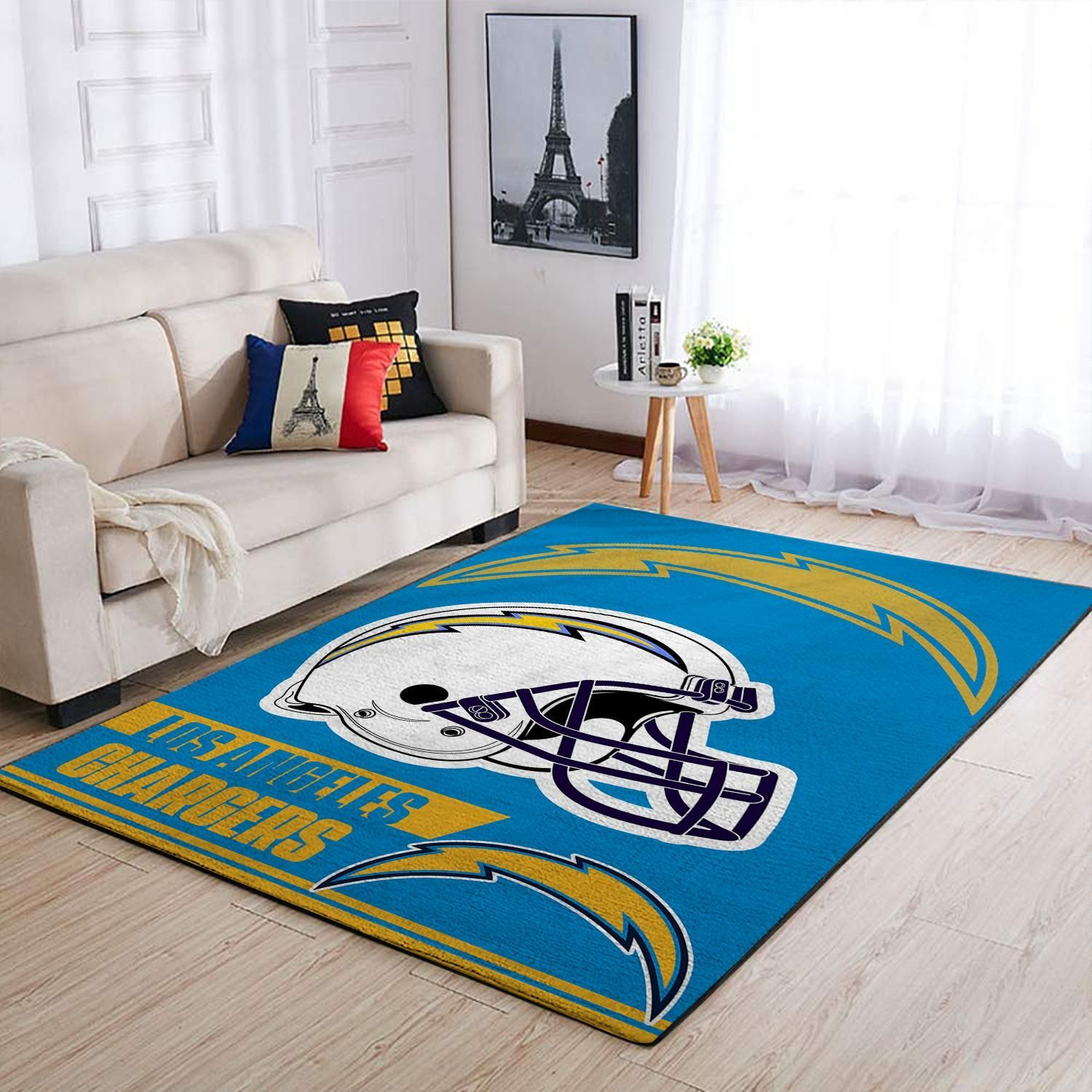 Amazon Los Angeles Chargers Living Room Area No3508 Rug