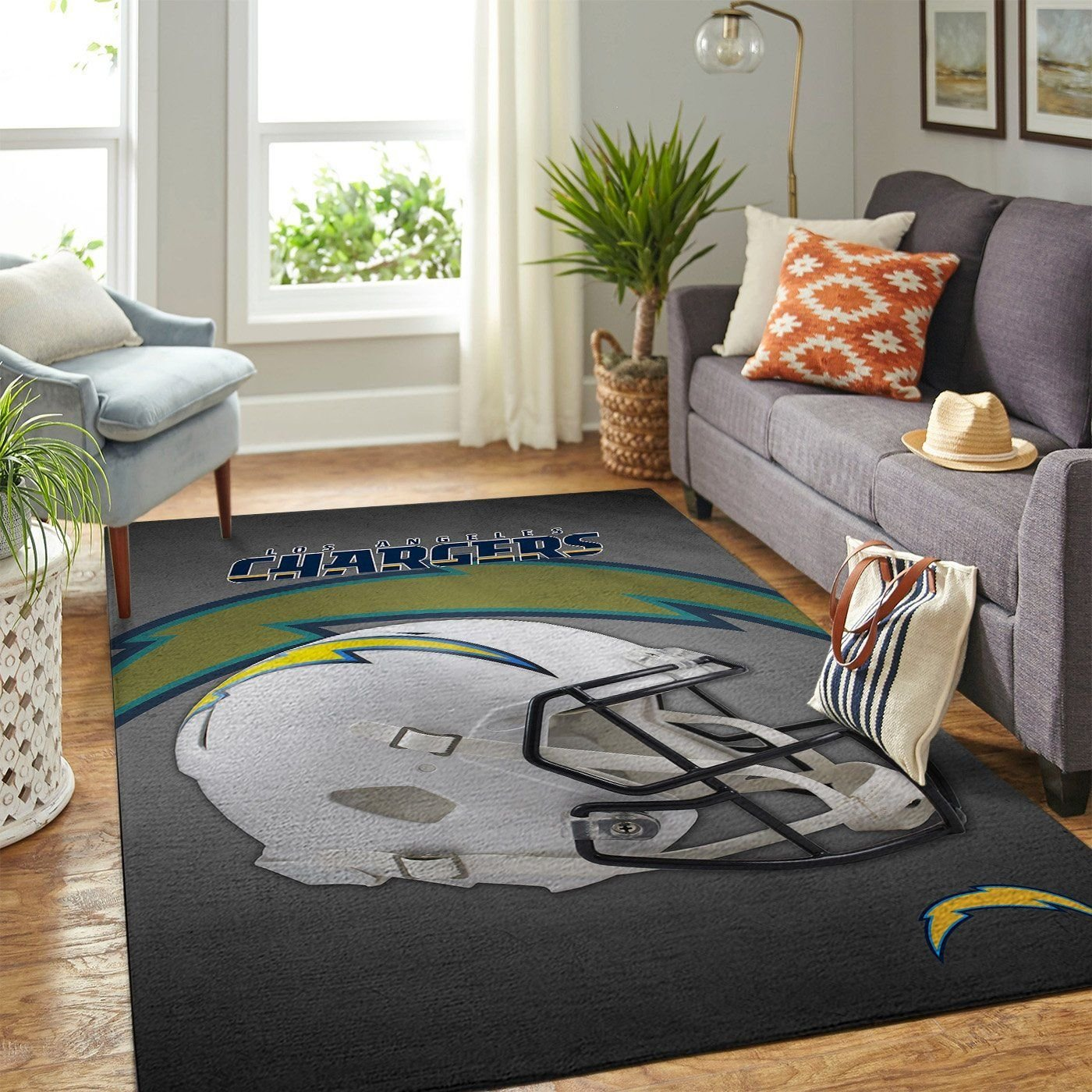 Amazon Los Angeles Chargers Living Room Area No3509 Rug
