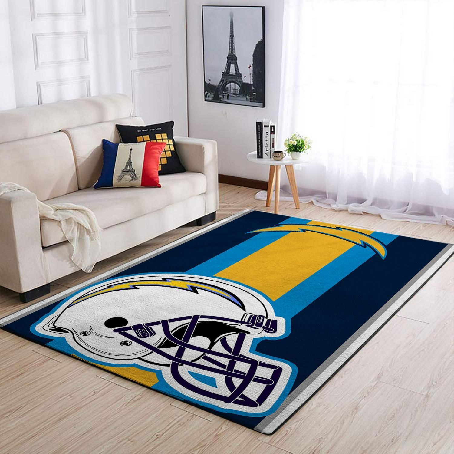 Amazon Los Angeles Chargers Living Room Area No3510 Rug