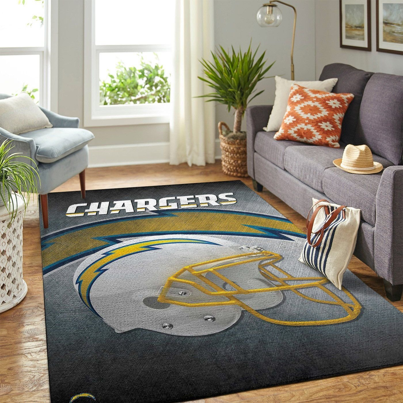 Amazon Los Angeles Chargers Living Room Area No3511 Rug