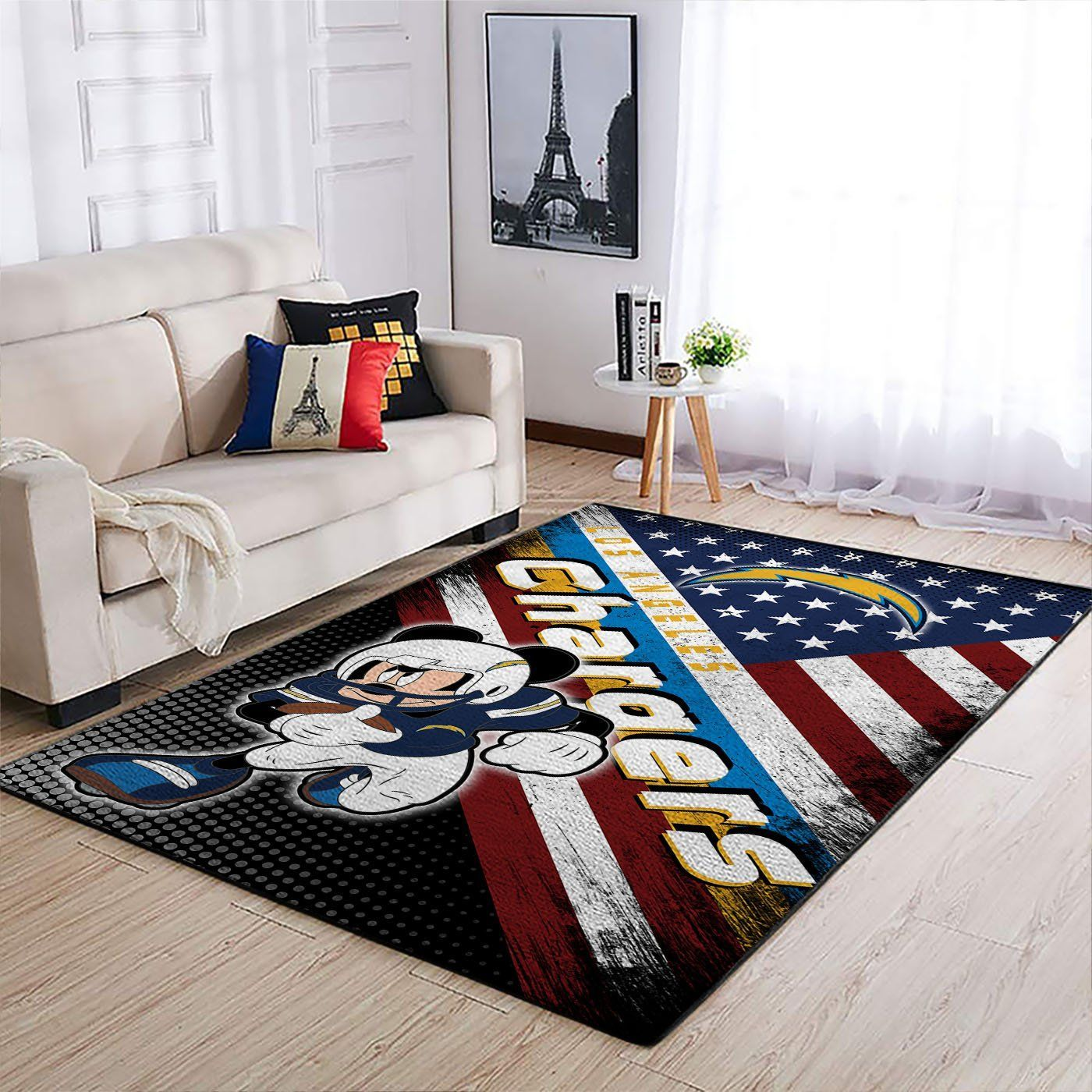 Amazon Los Angeles Chargers Living Room Area No3512 Rug