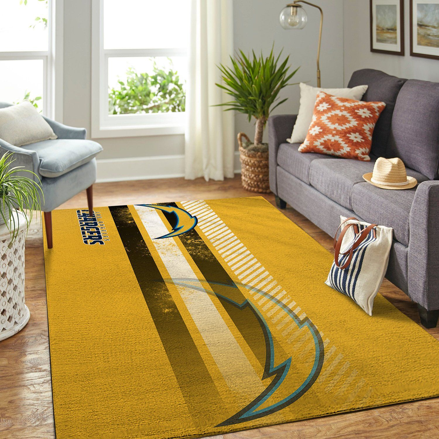 Amazon Los Angeles Chargers Living Room Area No3513 Rug