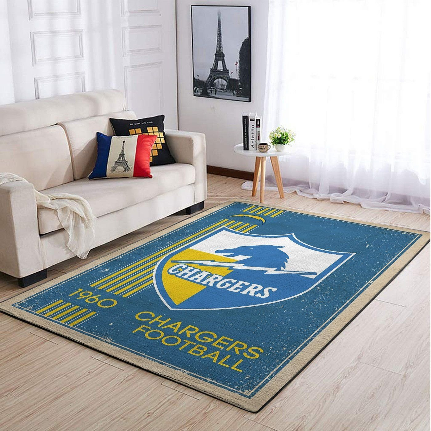 Amazon Los Angeles Chargers Living Room Area No3514 Rug