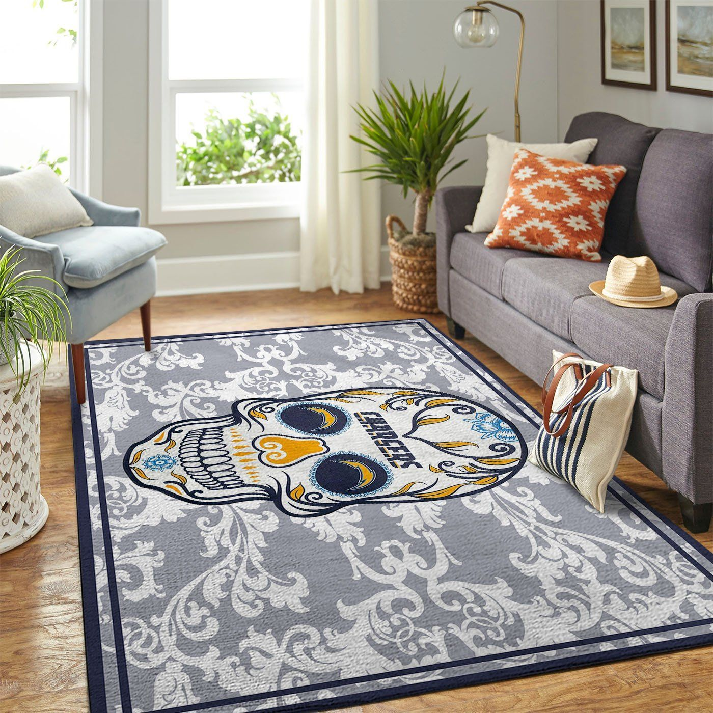 Amazon Los Angeles Chargers Living Room Area No3515 Rug