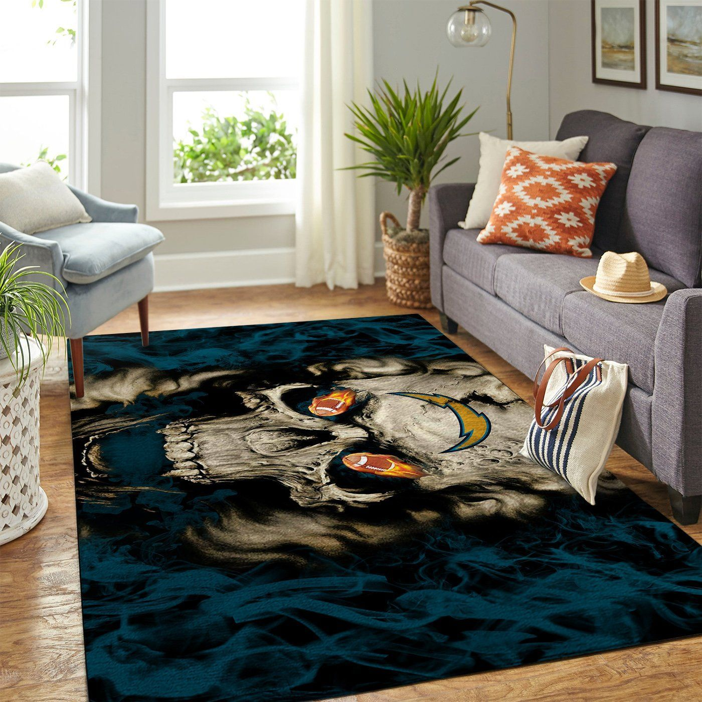 Amazon Los Angeles Chargers Living Room Area No3516 Rug