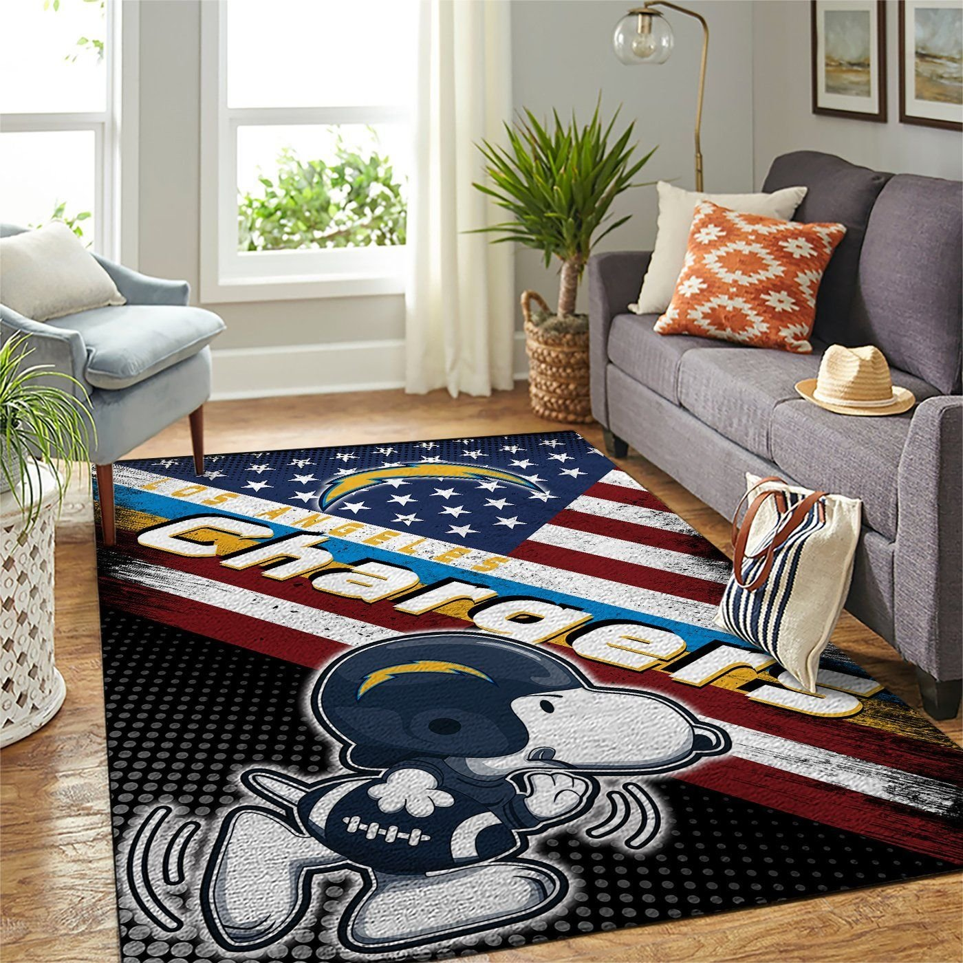 Amazon Los Angeles Chargers Living Room Area No3517 Rug