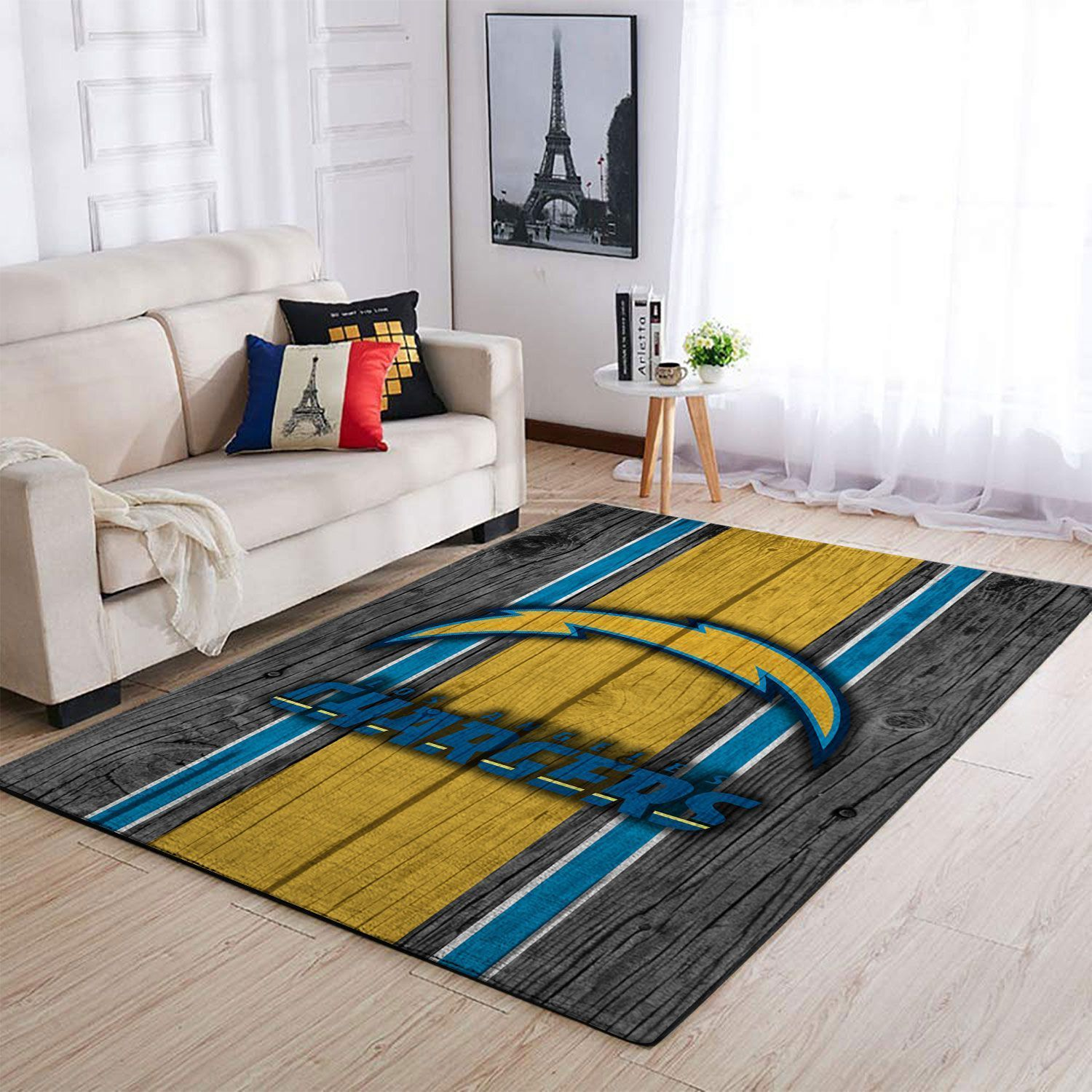 Amazon Los Angeles Chargers Living Room Area No3518 Rug