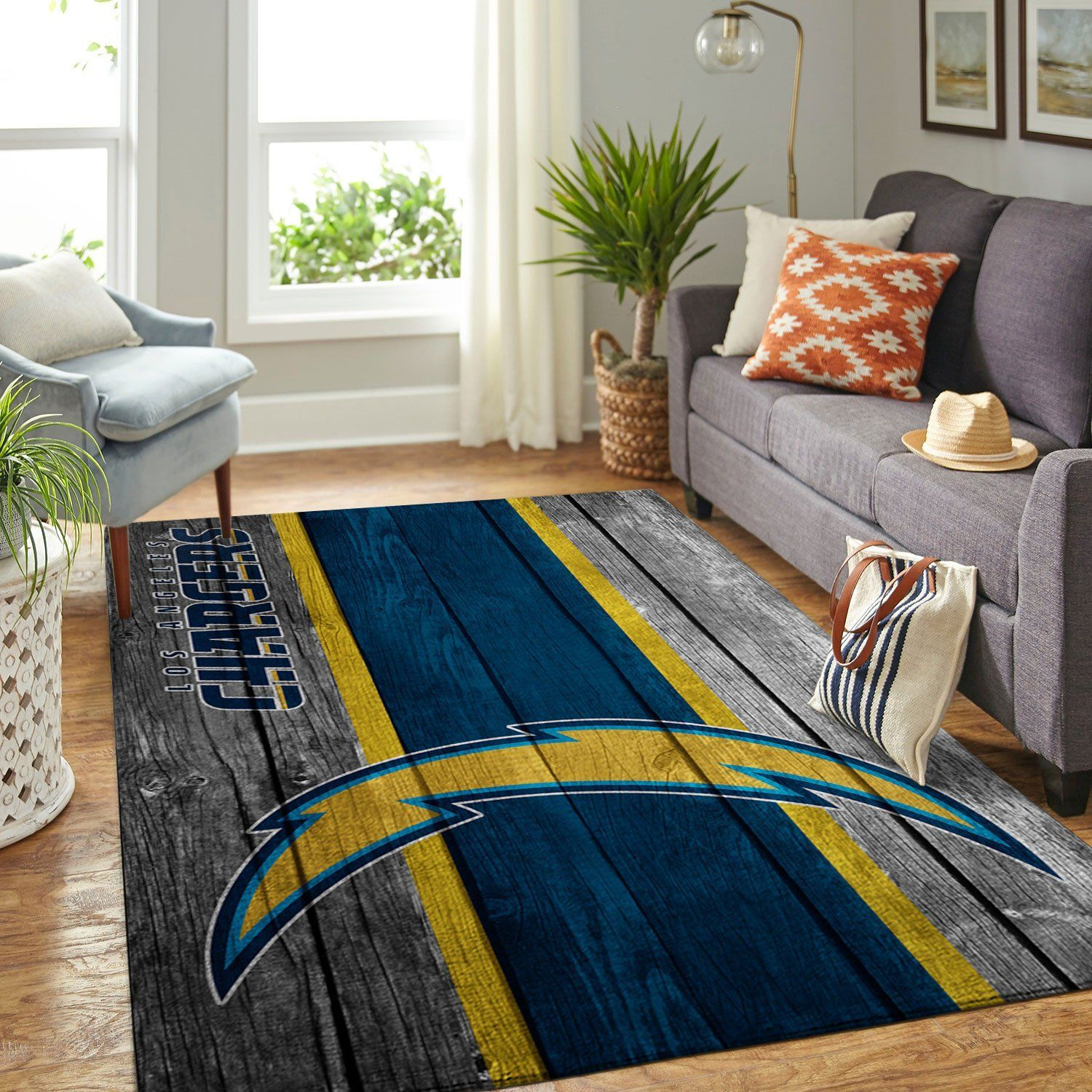 Amazon Los Angeles Chargers Living Room Area No3519 Rug