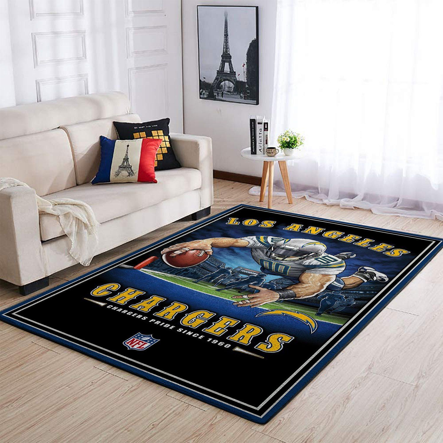 Amazon Los Angeles Chargers Living Room Area No3520 Rug